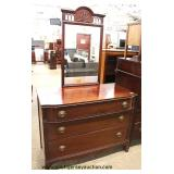"One of Several Mahogany Dressers with Mirror this one by ""Huntley Furniture""  Auction Estimate $100-"