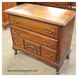 "SOLID Mahogany ""Sanford Furniture"" Queen Anne Low Chest  Auction Estimate $100-$300 – Located Inside"