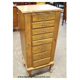 Contemporary Oak Multi Compartment Jewelry Chest  Auction Estimate $50-$100 – Located Inside