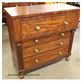 ANTIQUE Mahogany Empire Chest  Auction Estimate $100-$300 – Located Inside