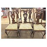 NICE QUALITY 10 Piece Burl Walnut Queen Anne Carved Dining Room Set  Auction Estimate $500-$1000 – L