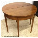 "Mahogany ""Norris Furniture, Richmond Virginia"" Inlaid Lift Top Game Table  Auction Estimate $200-$40"
