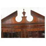 "BEAUTIFUL ""Drexel Furniture"" Burl Mahogany Bracket Foot Slant Front Secretary Desk with Bookcase Top"