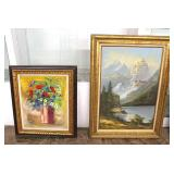 Selection of Artwork including Oil on Canvas', Prints, Paintings some signed  Auction Estimate $20-$