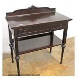 One of Several Carved Walnut One Drawer Servers  Auction Estimate $100-$300 – Located Inside