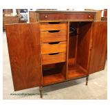 Walnut Depression 2 Door 1 Drawer Armoire with Fitted Interior  Auction Estimate $100-$300 – Located
