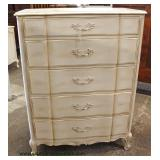 French Provincial Factory Painted High Chest and Low Chest  Auction Estimate $200-$400 – Located Ins
