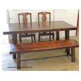 Country Style Table with Bench and 2 Chairs  Auction Estimate $200-$400 – Located Inside