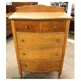 Oak Bow Front High Chest with Gallery and Low Chest with Mirror  Auction Estimate $200-$400 – Locate
