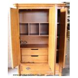 "Contemporary Oak ""Stanley Furniture"" 3 Door 1 Drawer Wardrobe with Fitted Interior  Auction Estimate"