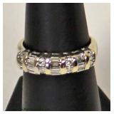 14 Karat White Gold 1 CTW Round and Baguette Diamond Band Ring  Auction Estimate $500-$1000 – Locat