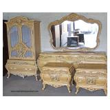 """Roma Style"" Italian 5 Piece Bedroom Set – maybe offered separate  Auction Estimate $300-$600 – Loc"