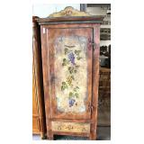 Paint Decorated 1 Door Cupboard Made In Italy  Auction Estimate $100-$300 – Located Dock