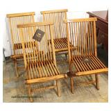 NEW 5 Piece Teak Patio Set with Tags  Auction Estimate $300-$600 – Located Inside