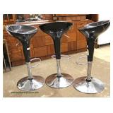 3 Modern Design Swivel Bar Stools  Auction Estimate $200-$400 – Located Inside