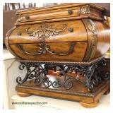 Contemporary Decorator Chest with Iron Base  Auction Estimate $100-$300 – Located Inside