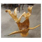 Modern Design Solid Wood Sculpture  Auction Estimate $200-$400 – Located Inside