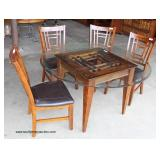 Contemporary 5 Piece Mahogany Finish Kitchen Table and 4 Chairs  Auction Estimate $100-$300 – Locat