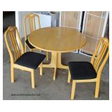 Contemporary 4 Piece Kitchen Table and 3 Chairs  Auction Estimate $100-$300 – Located Dock