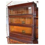 "ANTIQUE ""Globe Wernicke"" Oak 3 Stack Barrister Bookcase  Auction Estimate $100-$300 – Located Dock"