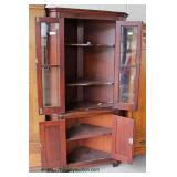 ANTIQUE 4 Door Cherry Corner Cupboard  Auction Estimate $100-$300 – Located Dock