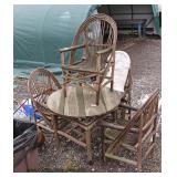 5 Piece Adirondack Table and 4 Chairs  Auction Estimate $100-$300 – Located Field