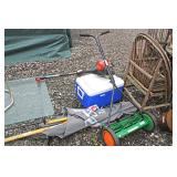 Selection of General Household Items including Umbrella, Cooler, Mower, Trimmer and much much more