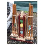 NICE VINTAGE Croquet Set  Auction Estimate $40-$100 – Located Field
