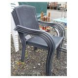 Selection of Outdoor Patio Chairs including Chaise, 4 Metal and 10 Plastic  Auction Estimate $20-$1