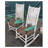 PAIR of Crackle Barrel Style Rockers  Auction Estimate $50-$100 – Located Field