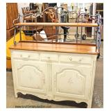 Painted One Drawer Desk with Chair  Located on Dock – Auction Estimate $25-$50