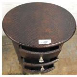 Snake Skin Style 3 Drawer Decorator Stand  Auction Estimate $50-$100 – Located Inside