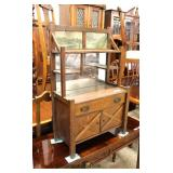 – RARE Model —  ANTIQUE Dimitive Mission Oak Salesman Sampler Buffet  Auction Estimate $300-$600 –