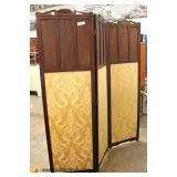 ANTIQUE Mahogany 3 Section Room Screen with Inlay  Auction Estimate $100-$300 – Located Inside