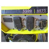 """Ryobi"" Easy Start 5500 Running Watts/6875 Starting Watts Generator  Auction Estimate $200-$400 – L"