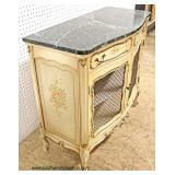 Marble Top 1 Drawer 2 Door Decorator Country French Style Server  Auction Estimate $200-$400 – Loca