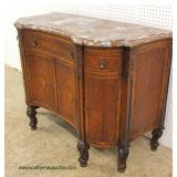 ANTIQUE Marble Top French Server in the Satinwood with Inlay and Fitted Interior  Auction Estimate