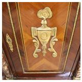 "— G O R G E O U S —  NICE French Style ""Fine Art Co."" Burl Mahogany Banded and Inlaid Marble Top 3"