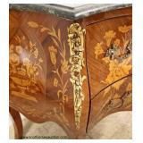 When Beauty comes knocking you have to…. buy it !!  Burl Mahogany French Style Marble Top 2 Drawer