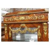 NICE French Style Marble Top Burl Mahogany Display Cabinet with Applied Bronze  Auction Estimate $2