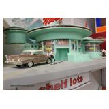 "Operating Mels Drive-In Diner ""Rail King"" by M.T.H.  Electric Trains The sound of the 1950"