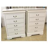 PAIR of NEW 5 Drawer Contemporary High Chest  (last piece of hardware is in drawer but it
