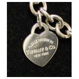 "Marked ""Tiffany and Company"" 925 Silver Heart Bracelet  Auction Estimate $100-$200 – Located Inside"