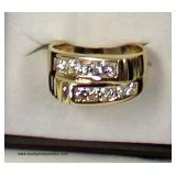 14 Karat Yellow Gold 1 CTW Round Diamond Men's Ring  Auction Estimate $1000-$2000 – Located Inside