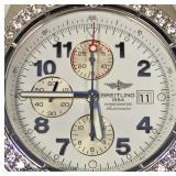 "Stainless Steel ""Breitling"" Super Avenger Automatic Watch with 2 ¾ CTW Diamond Bezel  Auction Estim"