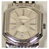 """Tiffany and Company"" Stainless Steel Automatic Newly Overhaul Watch  Auction Estimate $1000-$2000"
