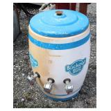 "VINTAGE ""Buckeye"" Root Beer Barrel Dispenser  Auction Estimate $100-$300 – Located Field"