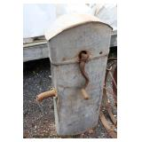 ANTIQUE Galvanized Well Head Cover with Original Stenciling in Original Found Condition  Auction Es