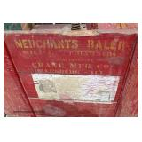 "ANTIQUE ""Merchants Baler Crane Mfg. Co. Ill."" Patent 1914 Paper Baler with Original Paint and Stenc"