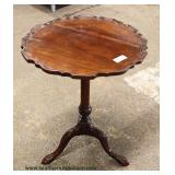 ANTIQUE Mahogany Pie Crust Lamp Table Auction Estimate $100-$200 – Located Inside